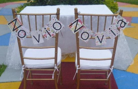 Las sillas de los novios! <3