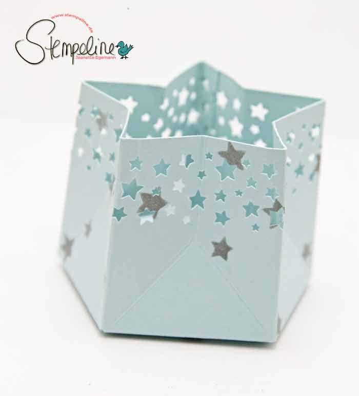Gift Bag punch board tea light candle holder {video tutorial}