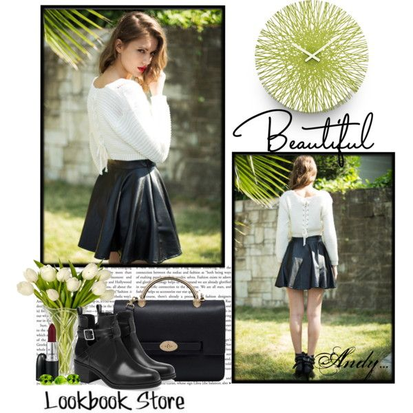 """LookBook Store :how to wear a Leather Skirt!!"" by andyts on Polyvore"