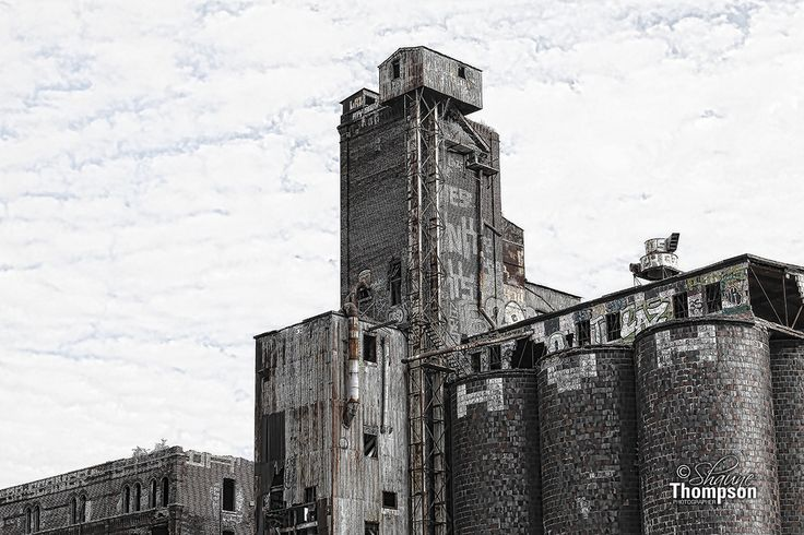 Canada Malting Building also known as the Industrial Cathedrale is located on the Lachine Canal in St-Henri.