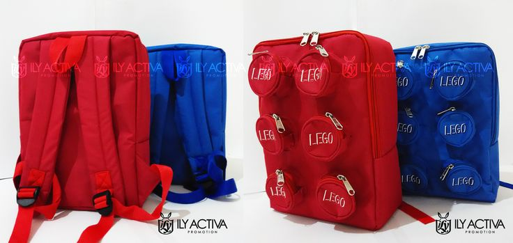 Lego Backpack - Uk 22x30x12cm Bahan Babyripstock Spons dalaman Furing nilon parasit 7 ruang (utama + 6 kantong) Ransel spons.  SOLD OUT!!