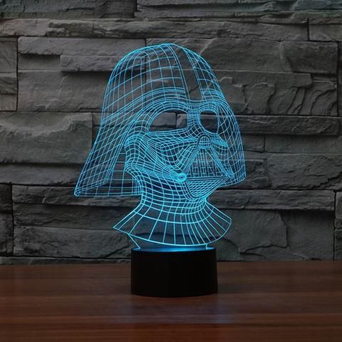 3D, Color Changing, Darth Vader Star Wars Death Star Lamp, Warship, LED Night Light, Atmosphere Lamp, Novelty Lighting