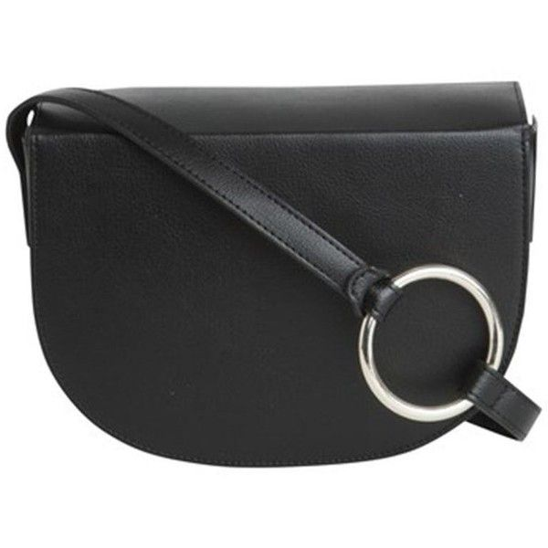 Pieces Dana Cross Body Bag in Black (155 PEN) ❤ liked on Polyvore featuring bags, handbags, shoulder bags, crossbody purse, silver handbags, silver shoulder bag, silver crossbody handbags and silver cross body purse