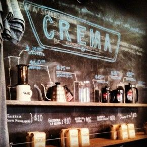 Crema: A Coffee Brewtique review by Corner of the Cafe Blog. Other coffee shops to visit: The Frothy Monkey; Ugly Mugs; and Barista Parlor.