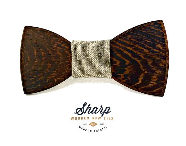 The Alma Wooden Bow Tie