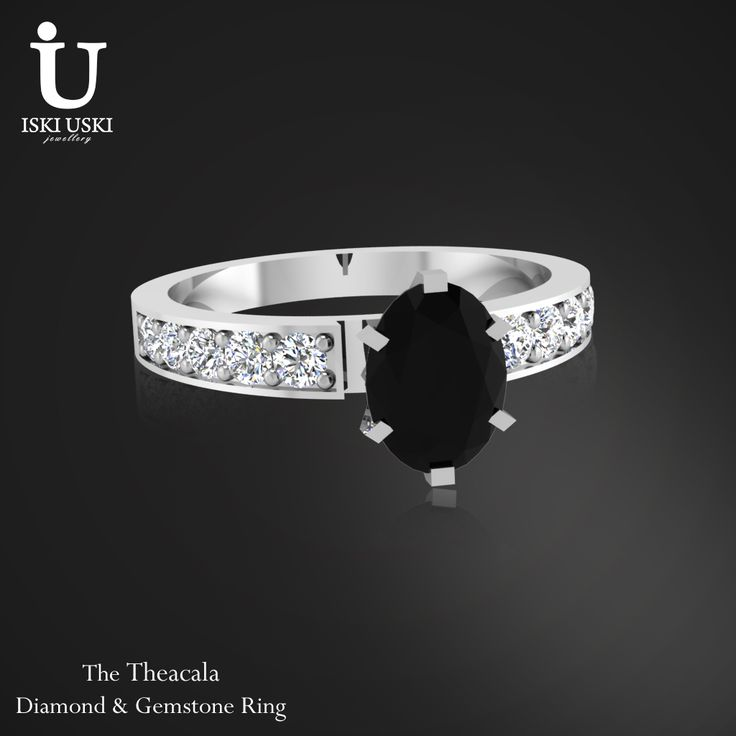 Excellent Collection of Diamond Black Sapphire Rings designed by IskiUski   #DiamondRings #GoldRings #Rings #IskiUski