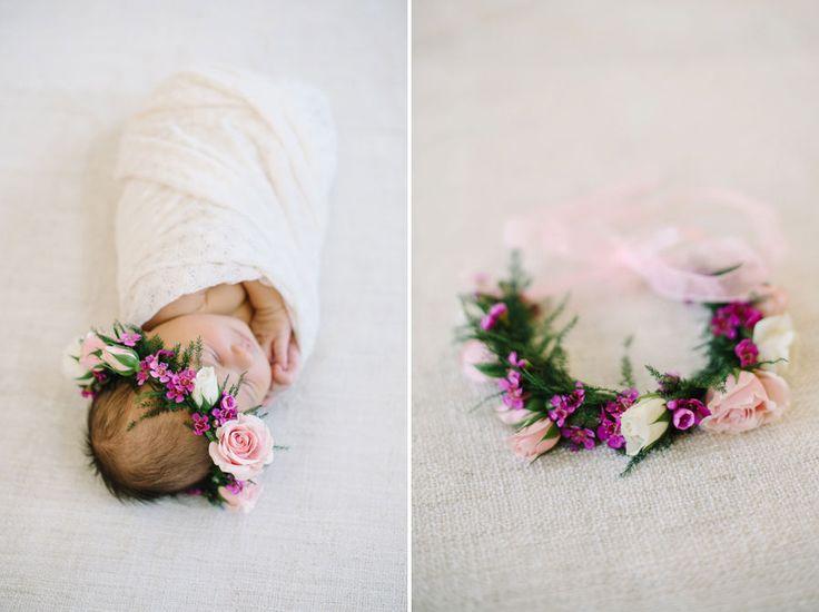 www.corrinawalker.com // Calgary Newborn Photographer » Corrina Walker Photography   Baby flower crown!