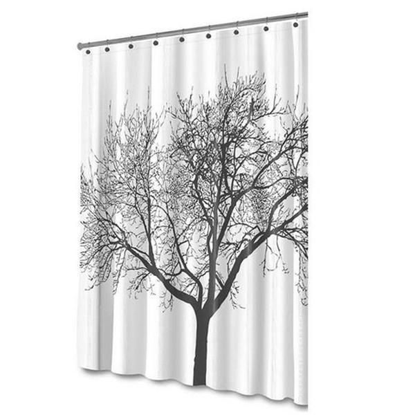 Waterproof Shower Curtain Tree Design Tree Shower Curtains
