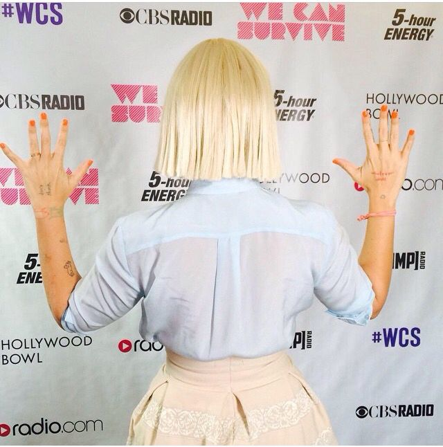 Sia, 2014! She should be given an award, just for figuring out how to manipulate that whole fame thing! Hiding her face, yet still selling millions of albums and music downloads, like a boss!