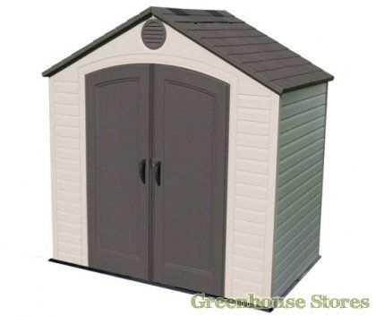 Lifetime 8x5 Plastic Shed  http://www.greenhousestores.co.uk/Lifetime-8x5-Plastic-Shed.htm