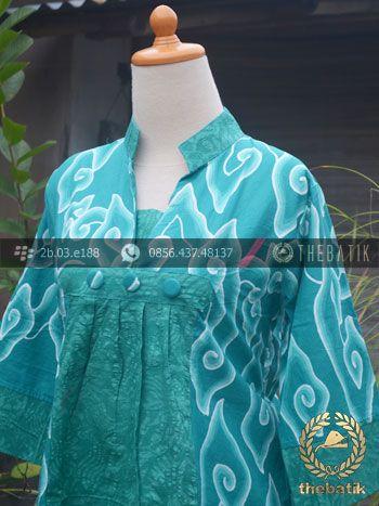 Model Baju Batik Wanita Megamendung Tosca | #Indonesia Unique #Batik Tops Clothing for #Women - Men http://thebatik.co.id/baju-batik/