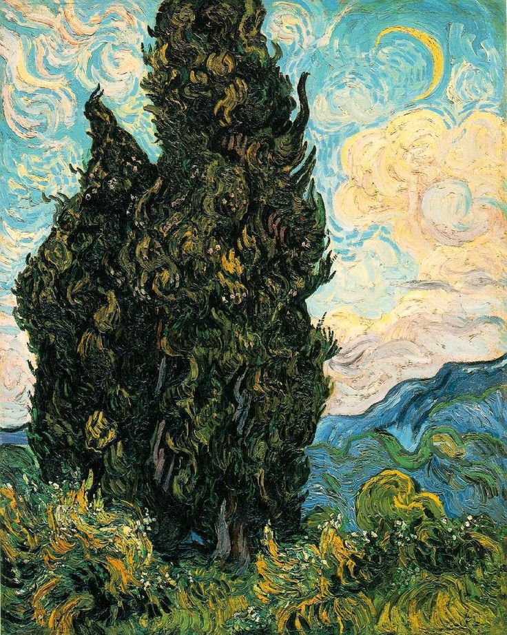 Charles Fonseca: Van Gogh: Ciprestes (1889) - Metropolitan Museum o...