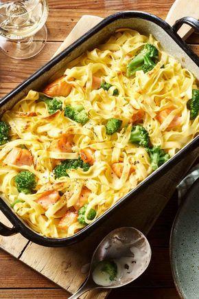 Creamy salmon casserole   – lecker  kochen.pinterent
