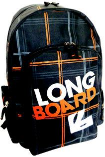 Longboard Backpack @ R290.00  Code: 760LL55 Weight: 0.62kg  Dimensions: 46 x 30 x 16cm  Features: Round Zip Opening, Front Pocket, Carry Handle, Shoulder Sling Available Colours: Black/Turquoise/Grey, Grey/Green, Grey/Orange, Purple  #LuggageLadies #Longboard #CoolKids #Backpack