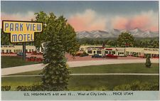 Postcard - Park View Motel, Price, Utah