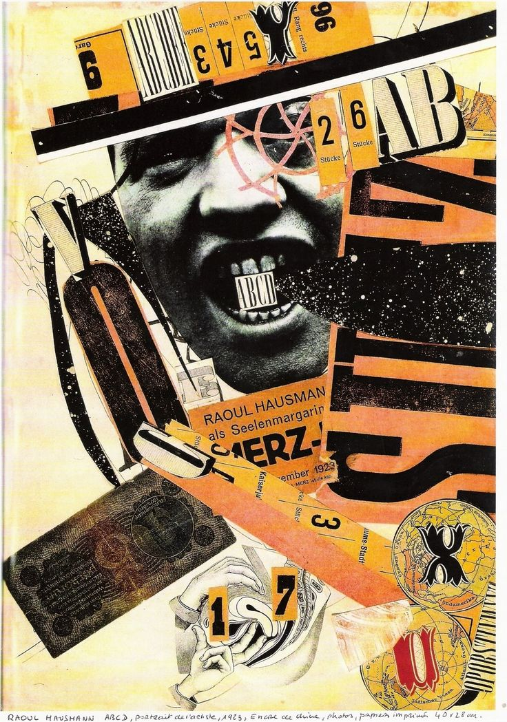 THIS IS ANOTHER EXAMPLE OF DADA GRAPHIC DESIGN, THERE IS NOT THOUGHT OR REASONING BEHIND THE CREATION OF THE IMAGE OTHER THAN WHAT THE DADA MOVEMENT STANDS FOR (REBELLION AND NONSENSE). THERE IS SOME TEXT IN THIS IMAGE AS WELL AS CUT OUTS FROM OTHER SOURCES. THE COMPOSITION OF ALL THE TEXT AND IMAGES HAS CREATED A PHOTO MONTAGE. http://sarahsmedley1992.wordpress.com/2011/10/07/was-graphic-design-influenced-by-futurism-constructivism-dada-and-de-stijl/