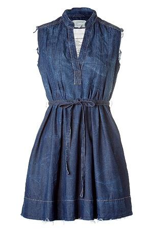 Dark Tin Belted Denim dress