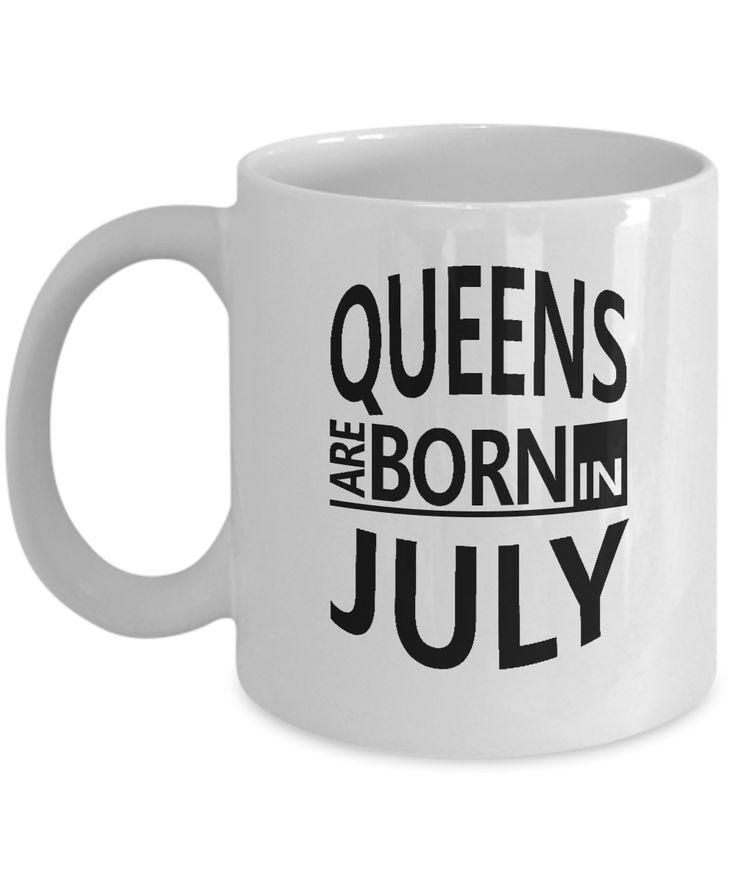 July Birthday Mug- Queens are Born in July-Cancer Zodiac