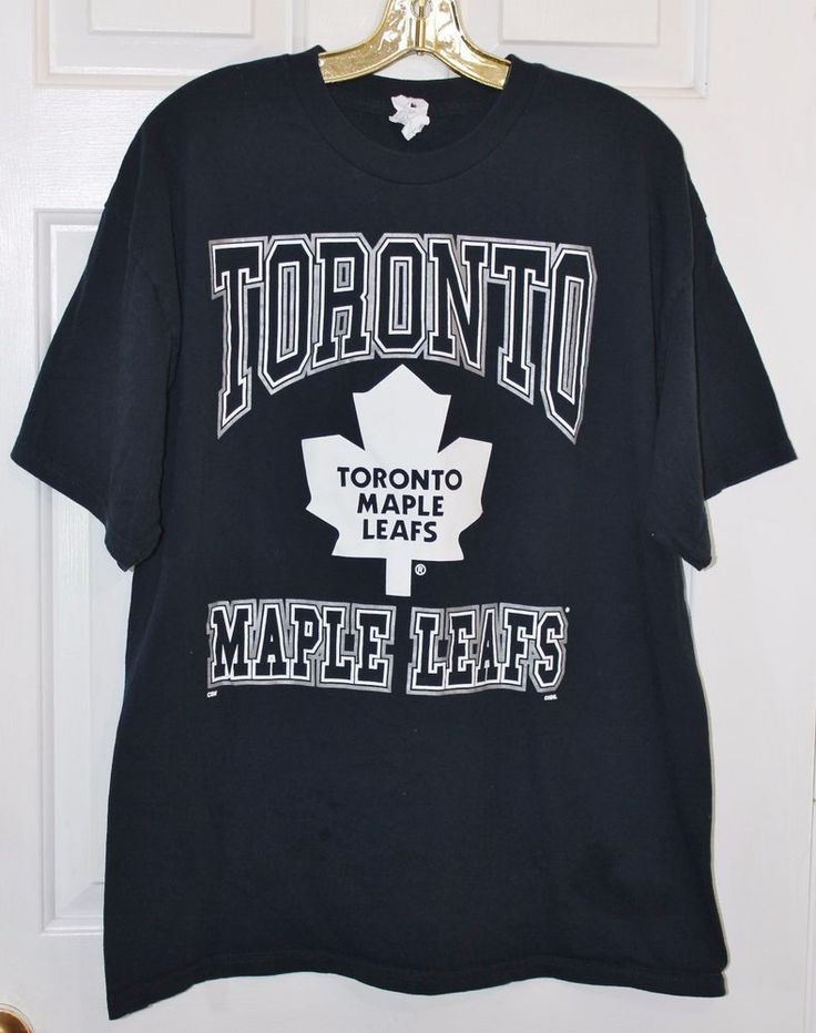 Toronto Maple Leafs Hockey Mens X Large Navy Blue White Cotton T Shirt Tee Fan  #AlstyleApparel #GraphicTee