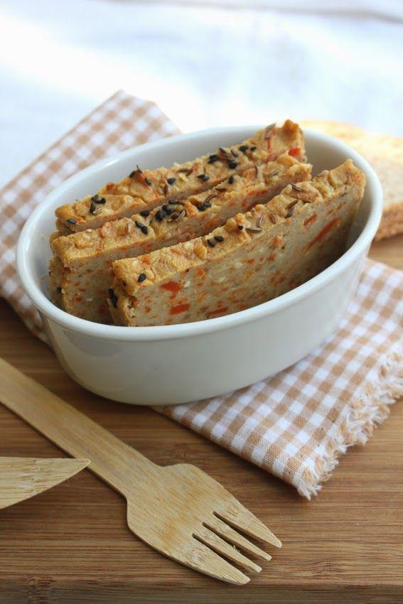Petits repas entre amis: Terrine de pois chiche au cumin { plus facile, c'est pas possible ! } - farine de pois chiches, carottes, cumin, coriandre