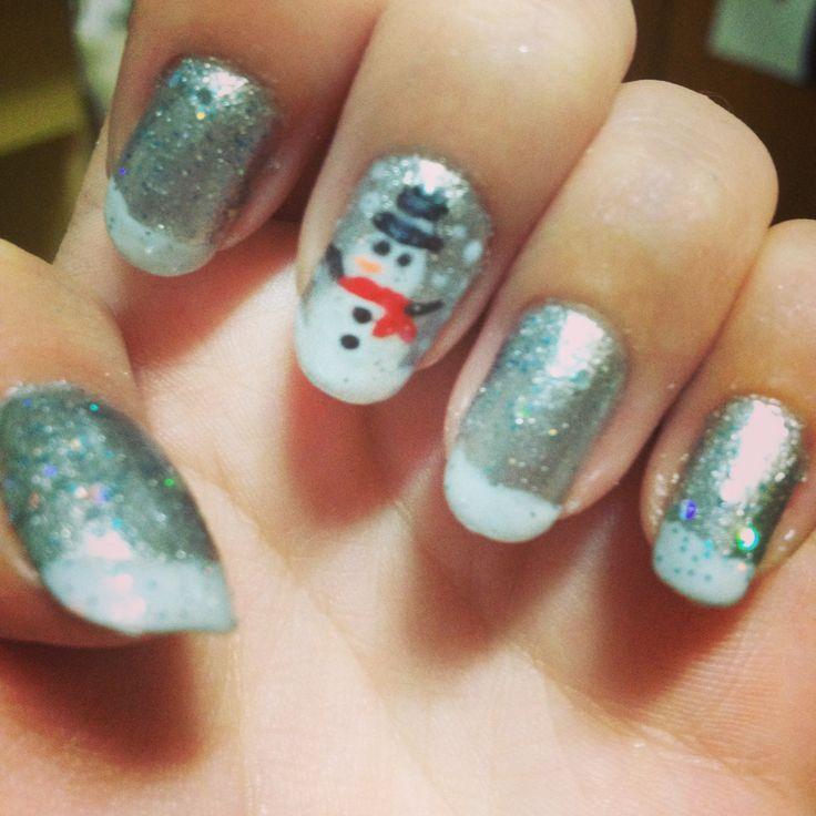 9 best my nail arts images on pinterest nail arts bows and snowman christmas winter nail art prinsesfo Gallery