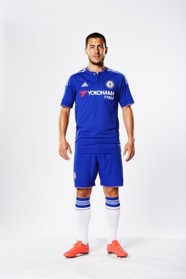 Eden Hazard: Chelsea Football Club and Adidas today (Thursday 16 July) unveil our new home kit for the 2015/16 season. Read more at http://www.chelseafc.com/news/latest-news/2015/07/new-2015-16-home-kit.html#8ozQwxLO7rD48lQp.99