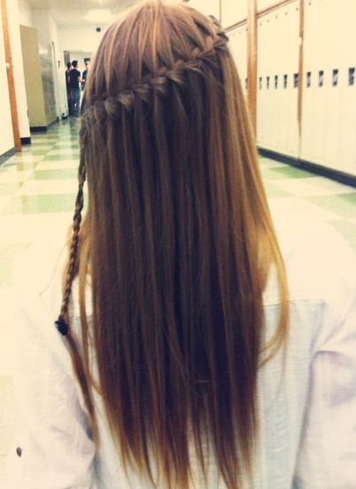 Waterfall Braid. Love how the lines seem to flow, fro the walls to the floor.