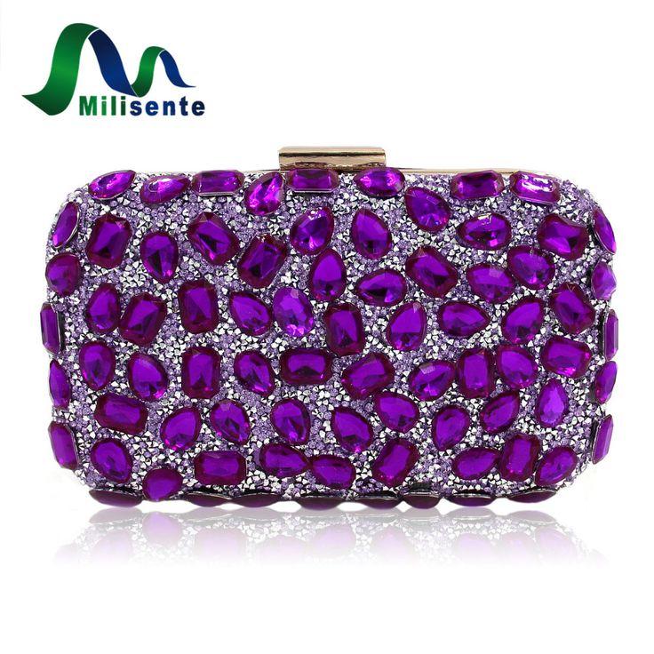 Milisente Women Evening Bag Gold Clutches Bags Blue Party Silver Wedding Party Purple Clutch Purses  #Affiliate