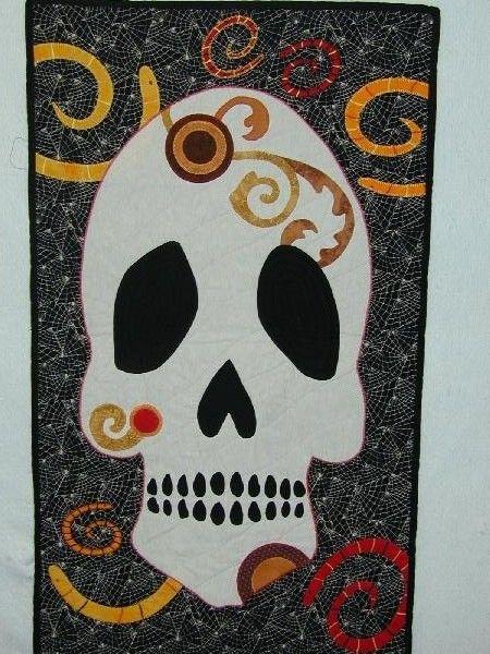 27 best Skull Quilt Ideas images on Pinterest | Appliques ... : sugar skull quilt pattern - Adamdwight.com