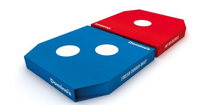 """Nosso objetivo era reforçar a diferenciação da marca e deixar as pessoas orgulhosas de escolher a Domino's. O Logotipo é carismático e memorável, e nós vimos uma oportunidade perfeita de traduzir isso diretamente nas caixas de pizza, tornando-as uma expressão tangível do consumo de pizza. A nova caixa mostra que não estão comprando pizza, mas sim uma Domino's."""""""