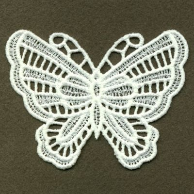 Fsl Butterfly Machine Embroidery Design Free Standing Lace
