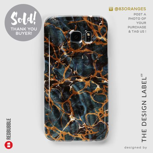 'Ocean & Gold Marble' Galaxy Case  Sold! #redbubble #tech #samsunggalaxy
