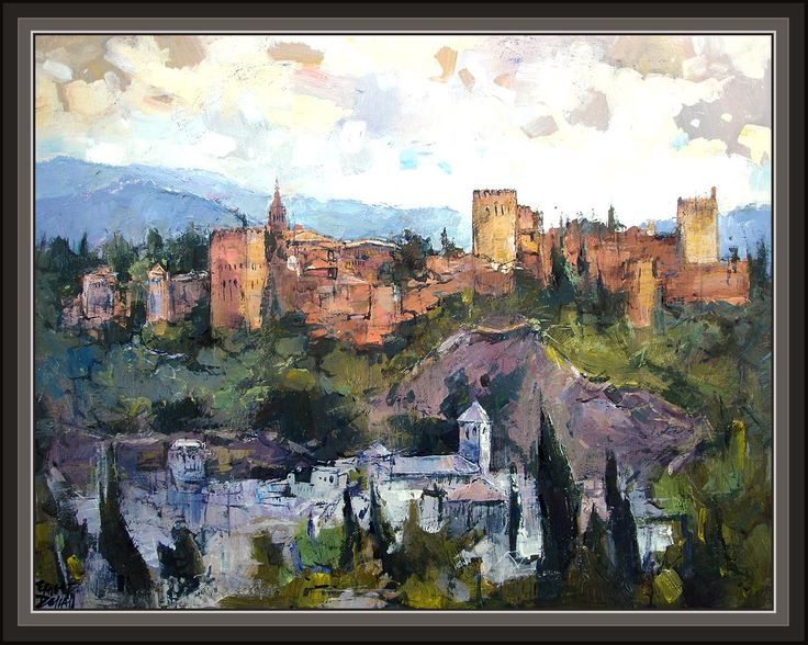 Cuadros ernest descals pinturas granada la alhambra for Arquitectura granada