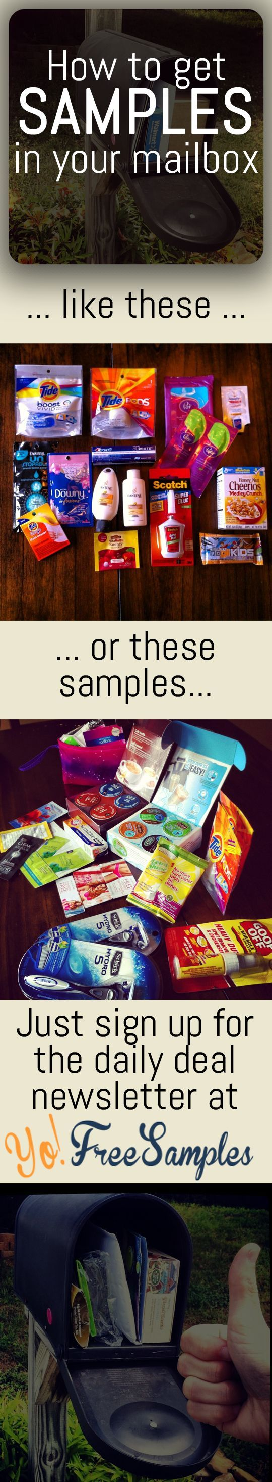 """Get free stuff by mail with daily updates: http://yofreesamples.com/sign-up-for-totally-free-samples-by-mail/?utm_source=pinterest&utm_medium=organic&utm_campaign=yfsn1-desc  This isn't your average """"real"""" free samples website. Each freebie has step by step instructions on getting verified received free samples.  John 'Samples' Clark tests every single freebie on the site and verifies what arrives and what didn't. Yo! Free Samples: http://yofreesamples.com/sign-up-for-totally-free-samples-by-mai"""