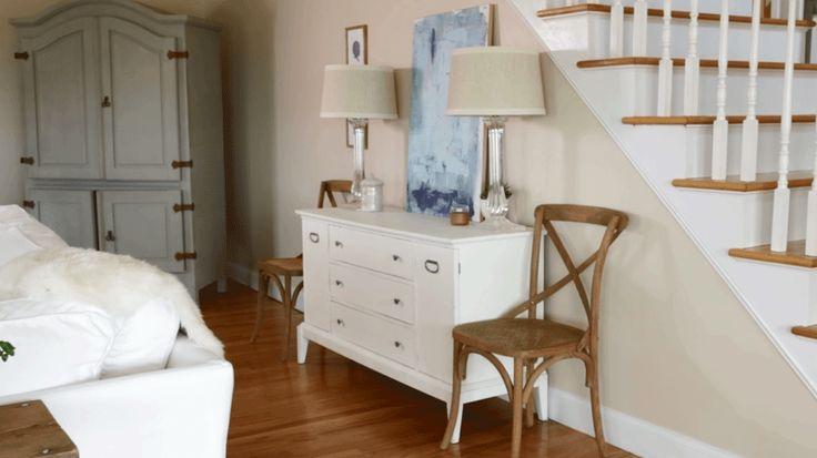 Turn a vintage dresser into a stylish storage solution.