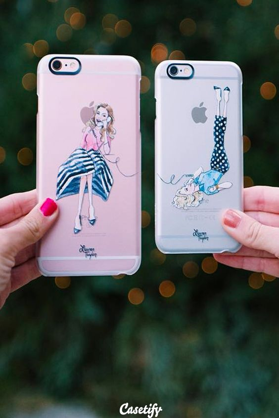 Click through to see more iPhone 6 phone case designs by Lauren Taylor Creates. Long distance is nothing when you got your bff! >>> https://www.casetify.com/laurentaylorcreates/collection | @casetify