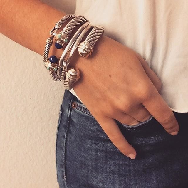 @thesweetcouturist totally nailed it with her stack. Share your David Yurman look with the hashtag #davidyurman.