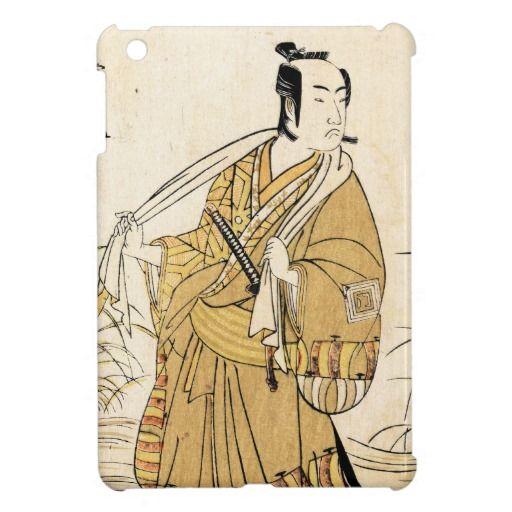 Cool japanese vintage ukiyo-e samurai tattoo art iPad mini covers