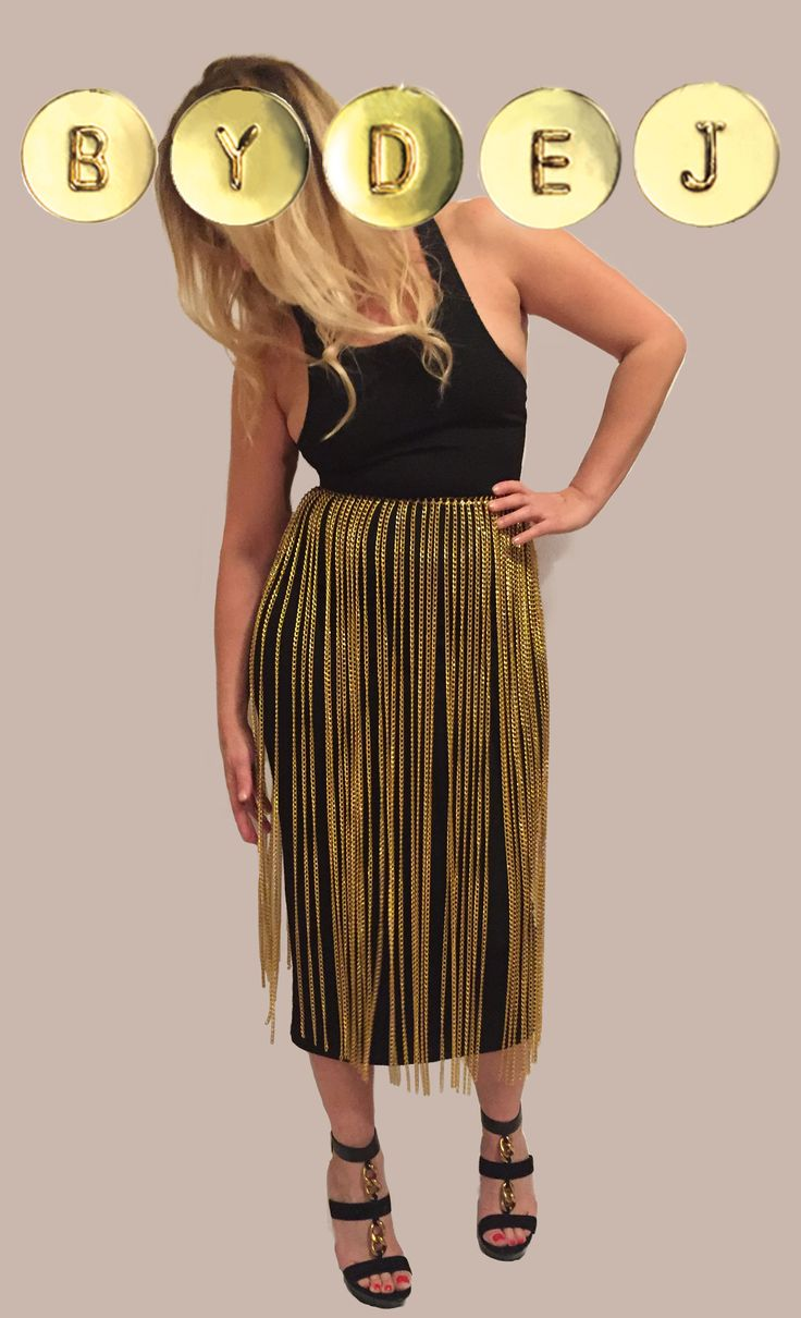 The Zira Chain Skirt is the ULTIMATE unique statement piece! This skirt features 5mm wide chain on every waist link.   Wear it with anything, over a bikini or body suit, a skirt, dress or pants.