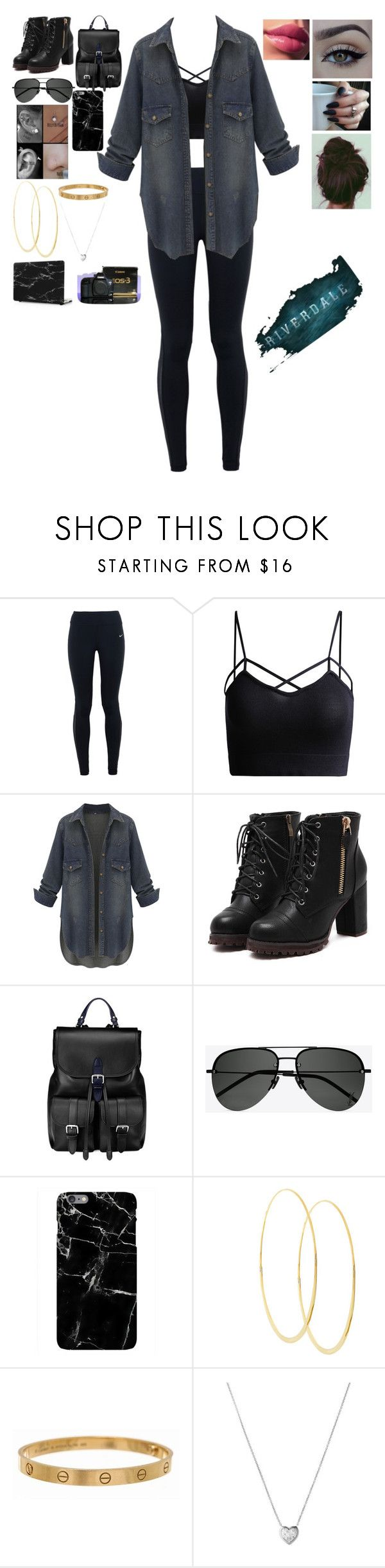 """""""~Riverdale~ Female Jughead Jones"""" by s2a4m ❤ liked on Polyvore featuring NIKE, Aspinal of London, Yves Saint Laurent, Harper & Blake, Lana, Cartier, Links of London, xO Design and Eos"""