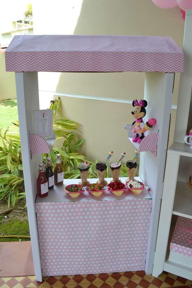 {Minnie's Ice Cream Shop} | CatchMyParty.com