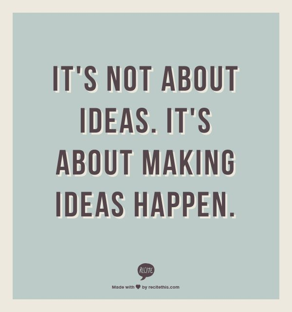 AH Innovation Champion Committee:  It's not about ideas.  It's about making ideas happen. #innovation