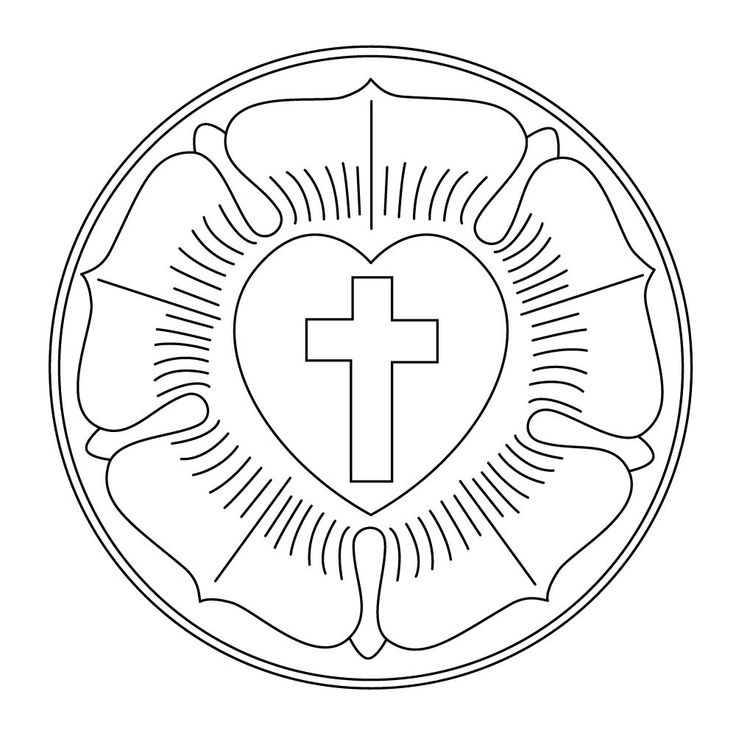 free coloring pages for adults luther rose | Luther Rose Craft Project (preschool classrooms only) —Pre ...