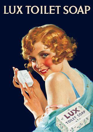 Lux se introdujo como un jabón de baño en los EE.UU. en 1925, y en el Reino Unido en 1928 como una extensión de marca de jabón en escamas Lux. Posteriormente jabón Lux ha sido comercializado en varias formas, incluyendo jabones líquidos, geles de baño, cremas, lociones y shampoo. Poster 1934