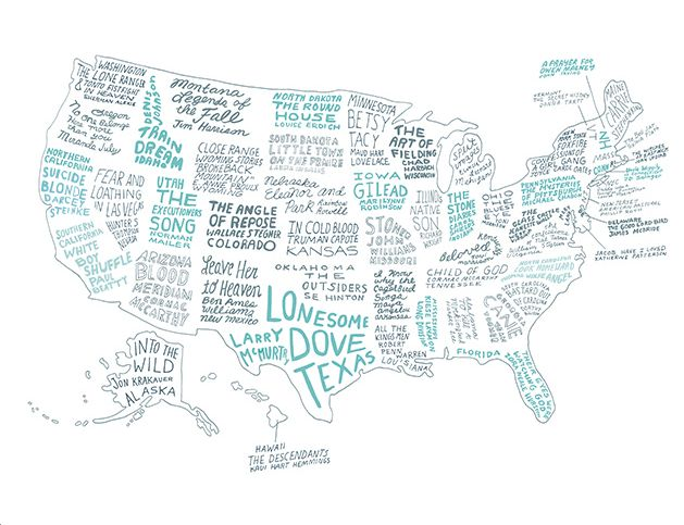 The Literary United States: A Map of the Best Book for Every State... All are literary in voice and spirit