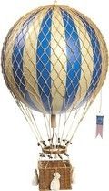 Vintage Hot Air Balloon - Blue by Oliver's Twisty Tales