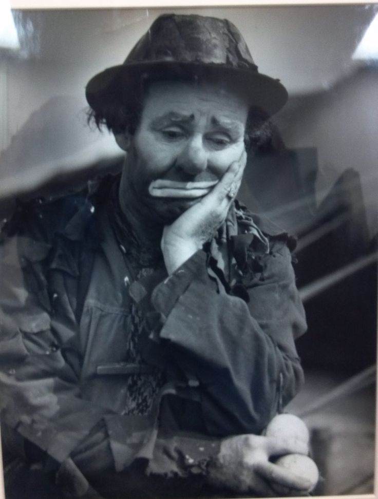 Emmett Kelly, the worlds most famous clown!  His son, Emmett Kelly, Jr also is an amazing performer. I have had the pleasure of meeting him on 3 different occasions.