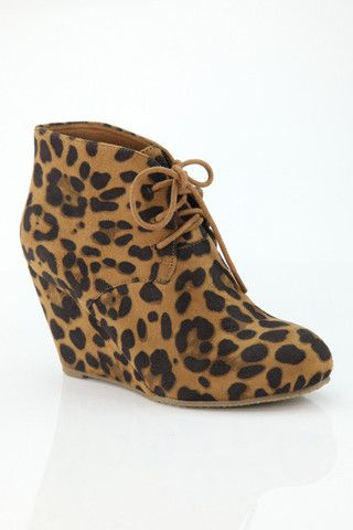 Becca Leopard Wedge Booties – Jess Lea Boutique