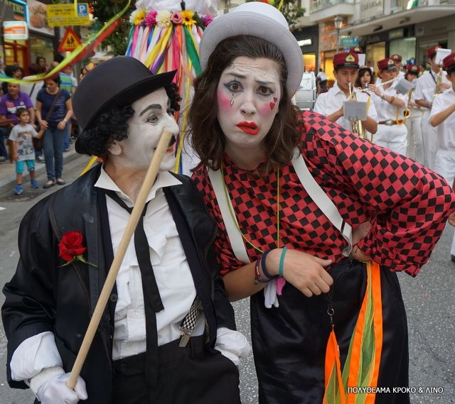 Clown and Charlie Chaplin