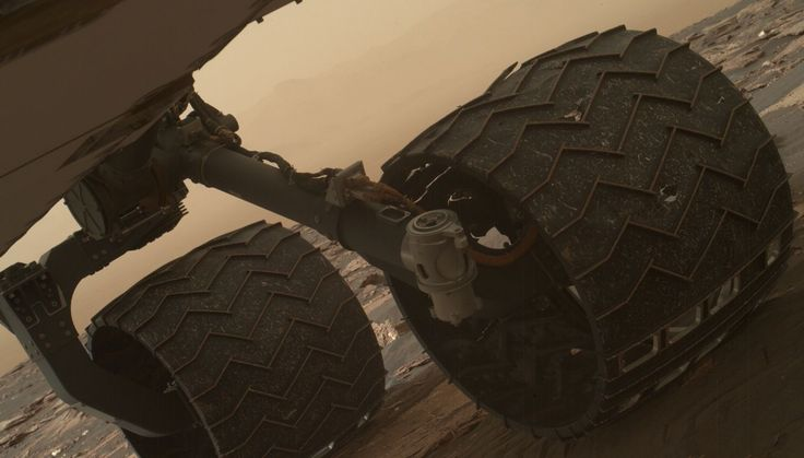 The Curiosity rover's wheels are taking a beating from the harsh conditions on the Red Planet, with the damage reaching a new level.